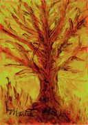 Change Paintings - The Old Oak Tree I by Larry Martin