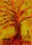 Oak Tree Paintings - The Old Oak Tree II by Larry Martin