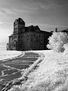 Dreamy Infrared Photo Art Posters - The Old Odd Fellows Home BW Poster by Luke Moore