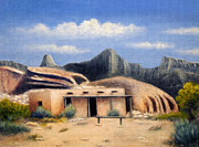 Adobe Building Prints - The Old Outpost Print by Gordon Beck