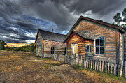 Log Cabins Photos - The Old Picket Fence by Daniel Hagerman
