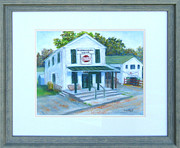 Landmarks Pastels Originals - The Old Poolesville General Store  by Nancy Heindl