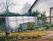 Shed Framed Prints - The Old Quilt Framed Print by Michael Humphries