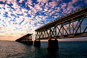 Mile Road Posters - The Old Rail Road Bridge in the Florida Keys 2 Poster by Susanne Van Hulst