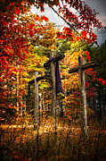 Three Trees Photos - The Old Rugged Cross by Debra and Dave Vanderlaan