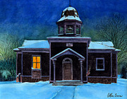 Arthur Barnes Art - The Old School House by Arthur Barnes