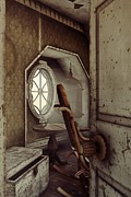 Rocking Chairs Digital Art - The Old Shabby Room by Liam Liberty