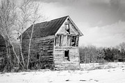 Winter Scenes Prints - The old shack Print by Gary Heller