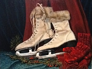 Ice Skates Paintings - The Old Skates Still Fit by Patty Kay Hall