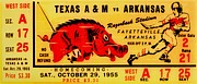Razorbacks Prints - The Old Southwest Conference Print by Benjamin Yeager
