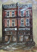 Old Town Drawings Acrylic Prints - The Old Store Acrylic Print by Eloise Schneider