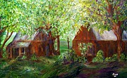 Wooden Cabin Paintings - The Old Swing  by Eloise Schneider