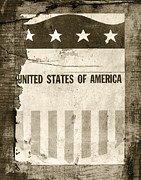 4th July Posters - The Old Tag BW Poster by Martin Bergsma