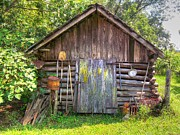Old Home Place Posters - The Old Tool Shed II Poster by Lanita Williams