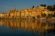 Menton Prints - The old town of Menton Print by Christine Valin Photos