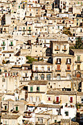 Italian Med Posters - The Old Town Of Modica Sicily  Poster by Jacek Malipan