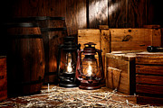 Kerosene Lamp Photos - The Old Warehouse by Olivier Le Queinec