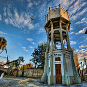 Kabbalah Art - The Old Water Tower of Tel Aviv by Ron Shoshani