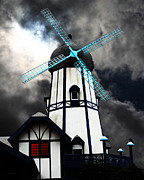 Old Mills Framed Prints - The Old Windmill 5D24398 Framed Print by Wingsdomain Art and Photography