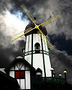 Bright Colors Metal Prints - The Old Windmill 5D24398m180 Metal Print by Wingsdomain Art and Photography