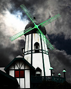 Bright Colors Metal Prints - The Old Windmill 5D24398m80 Metal Print by Wingsdomain Art and Photography