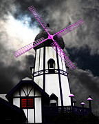 Old Mills Framed Prints - The Old Windmill 5D24398p118 Framed Print by Wingsdomain Art and Photography