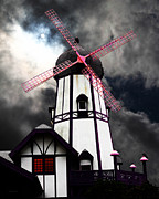 Bright Colors Metal Prints - The Old Windmill 5D24398p180 Metal Print by Wingsdomain Art and Photography