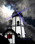 Old Mills Framed Prints - The Old Windmill 5D24398p50 Framed Print by Wingsdomain Art and Photography