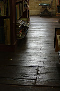Flooring Framed Prints - The Old Wood Floor In The Old Book Store - color Framed Print by John Ayo