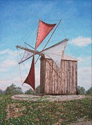 Carlos De Vasconcelos Tavares - The old wood windmill