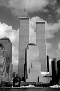 New York Skyline Art - The Old WTC by Joann Vitali