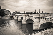 Fencing Originals - The oldest bridge of Paris by Sergey Simanovsky