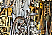 Shed Digital Art - The Ole Drill Press by DD Edmison