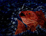 Fishing Glass Art Prints - The One That ... TOO Print by Debbie May