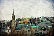 Philadelphia Mixed Media Metal Prints - The Only Good Thing About The Highway Is The Scenery Metal Print by Trish Tritz