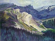 Rocky Mountains Mixed Media - The Opal Mountains by Janet Ashworth