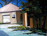 Outbuildings Painting Framed Prints - THE OPEN DOOR in the GOLF SHED series No.7 Framed Print by Charlie Spear