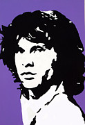 Jim Morrison Prints - The Open Door Print by Robert Margetts