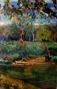 Painted Pastels - The Opposite Bank by Tim  Swagerle