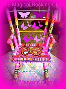 Furniture Sculpture Posters - The  Original Magical Rocking Chair Poster by Maryann  DAmico