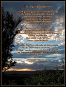 Sunset Greeting Cards Framed Prints - The Original Serenity Prayer Framed Print by Glenn McCarthy Art and Photography
