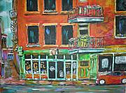 Window Signs Paintings - The Other Bagel Factory by Michael Litvack