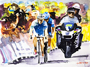 Le Tour De France Posters - The Other Bike Poster by Shirley  Peters
