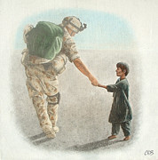 Compassion Paintings - The Outcome of War is in Our Hands by Conor OBrien