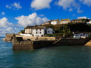 Fishing Village Posters - The Outer Harbour at Porthleven Poster by Louise Heusinkveld