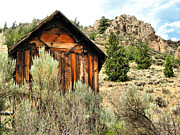 Ghost Town Outhouse Prints - The Outhouse Print by Jennifer DeNaughel