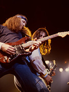 Concert Photos Art - The Outlaws-Hughie Thomasson and Freddie Salem at Oakland Coliseum by Daniel Larsen