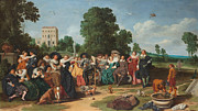 Famous Artists - The outside party by Dirck Hals