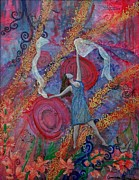 Prophetic Art Painting Originals - The Overcoming worshipper by Cassandra Donnelly