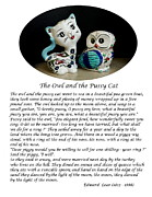 The Owl And The Pussycat Prints - The Owl and the Pussy Cat Print by John Chatterley